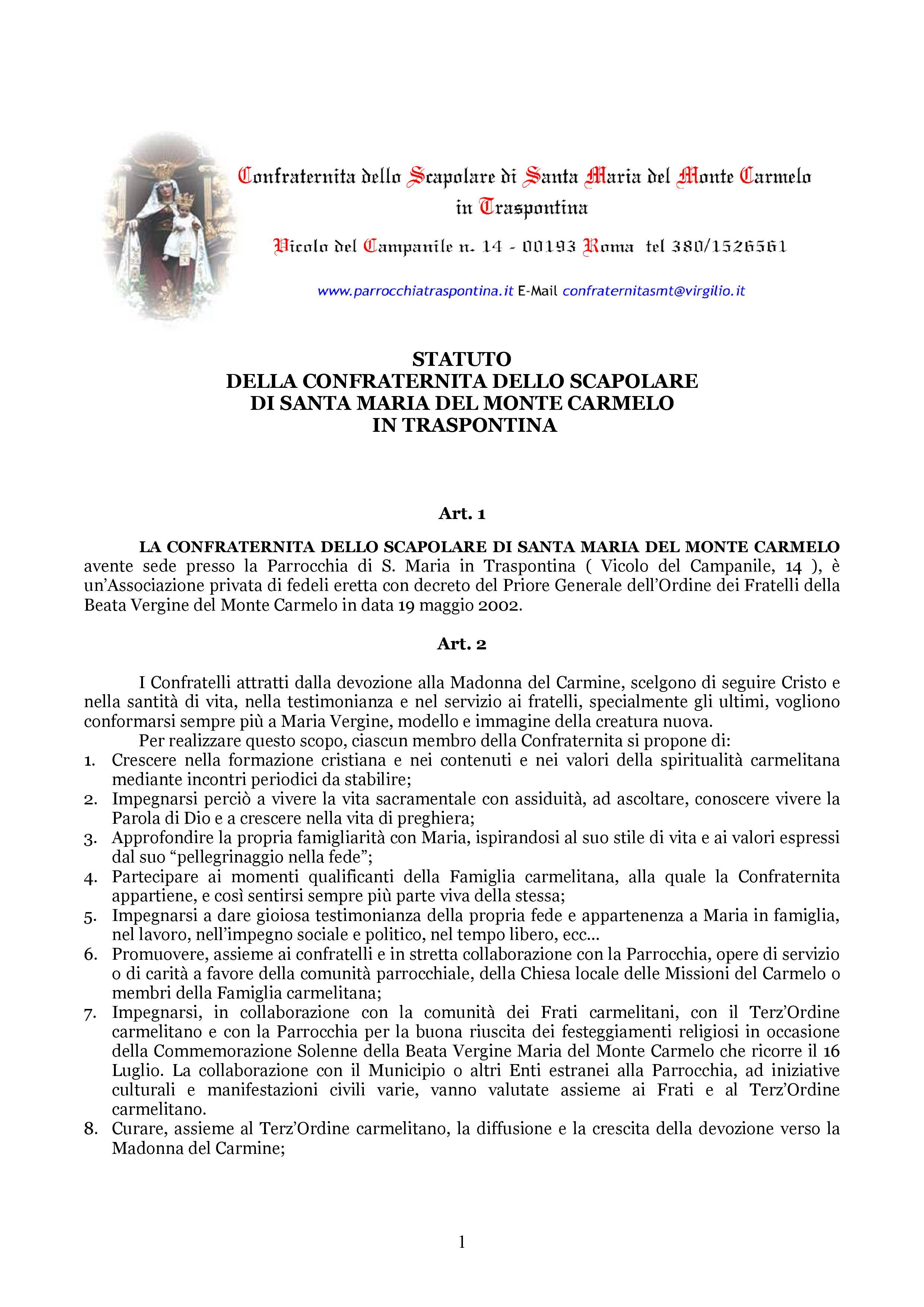 Confraternita dello Scapolare di Santa Maria del Monte Carmelo